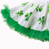 CLEAR OUT PRICE IRISH DRESS!  St.Patrick's Day Girls Ruffle Dress with Crown Headband.