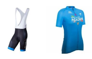Devo Team Official Woman Jersey & Training BodyFit Cycling Bib Shorts Set (4164864147509)