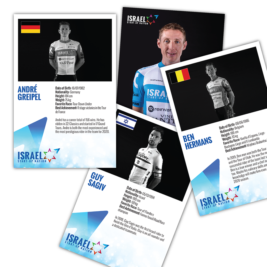 2020 Israel Start Up Nation Team Riders' Cards (4442835583029)