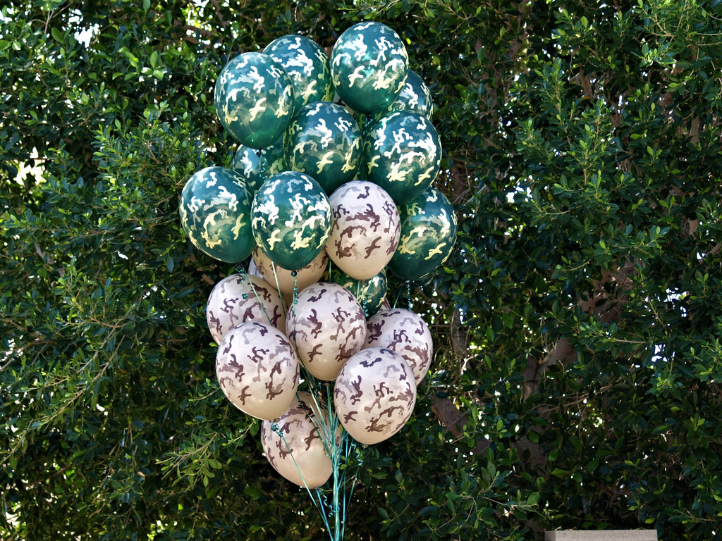 Tan Camouflage Balloons. 24 pack