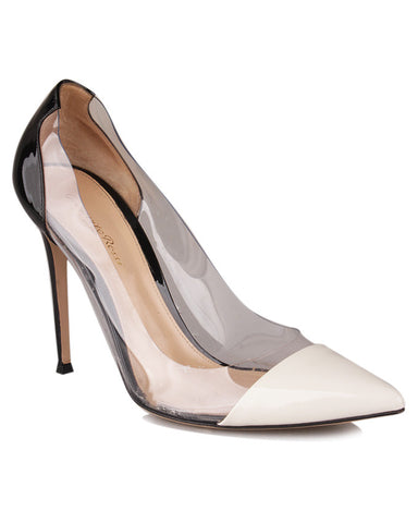 Gianvito Rossi Patent Leather and Transparent Pumps <br> Size 41