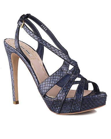 Miu Miu Blue leather Strappy Sandals <br> Size 38.5