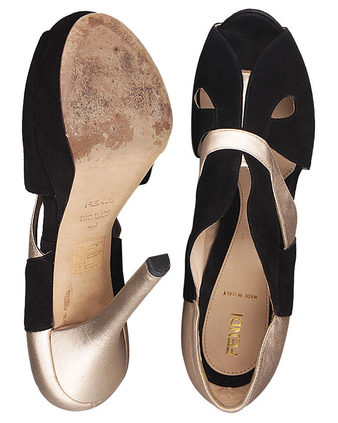 Fendi Cut-Out Platform Pump <br> Size 40