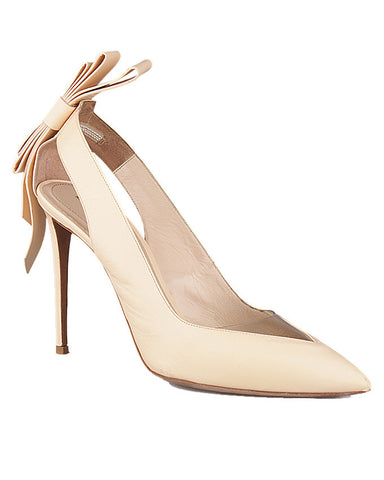 Nicholas Kirkwood Origami Bow Point-Toe Nude Pump, <br> Size 39