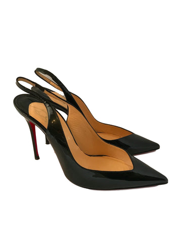 Christian Louboutin Fleuve 100 Patent Leather Pumps<br> Size 39.5