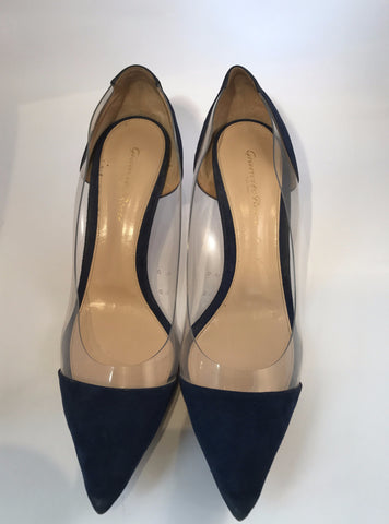 Gianvito Rossi Suede and Perspex Pumps<br>Size 40