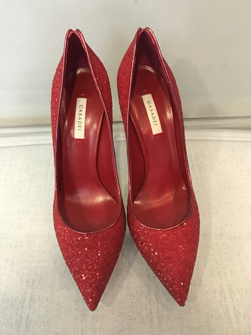 Casadei 120mm Glittered Blade Pumps <br> Size 38.5, 41.5