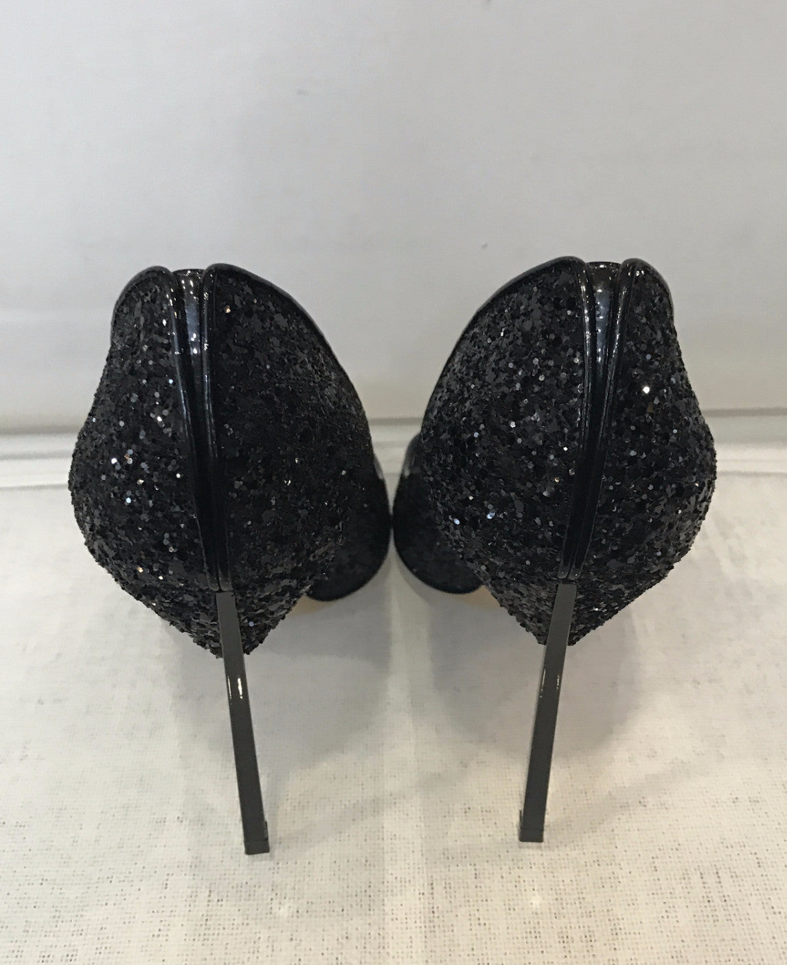 Casadei 120mm Glittered Blade Pumps <br> Size 39