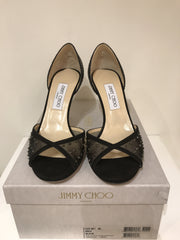 Jimmy Choo Crystal-Embellished Evening Sandal<br> Size 40