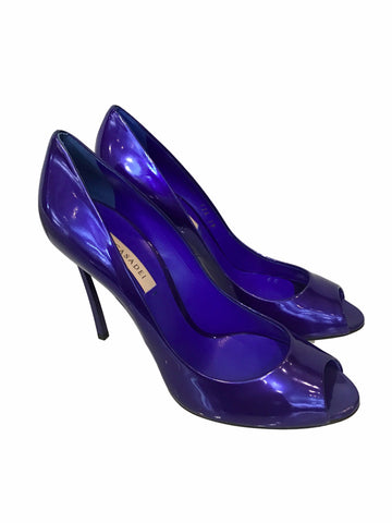Casadei Blade Peep Toe Patent Pumps <br> Size 37 & 39