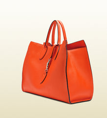 Gucci Jackie Soft Leather Top Handle Bag, Orange