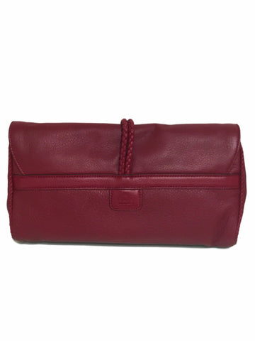 Gucci Hip Bamboo Leather Clutch