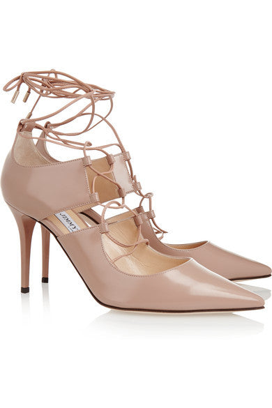 Jimmy Choo Hoops Lace-Up Leather Pump <br> Size 40 & 41
