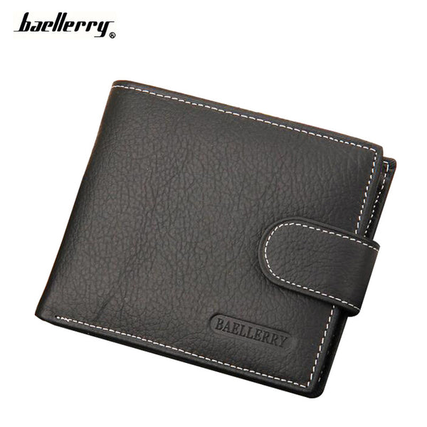 Genuine Leather Credit Card Holder Coin Pocket Brand Design Baellerry Wallet