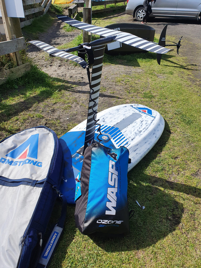 "Loving my new Armstrong 5'11"" SUP and Wing board."