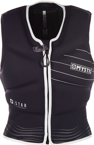 MYSTIC Star Impact Vest Fzip Kite (Womens Black/White)