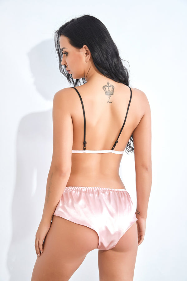 Women Satin Silk Bra Shorts @ Daloah.com
