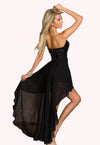 Charming Boulevard Sequined Long Dress Black @ Daloah.com