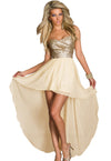 Charming Boulevard Sequined Long Dress Beige @ Daloah.com