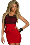 Lace Red Dress @ Daloah.com