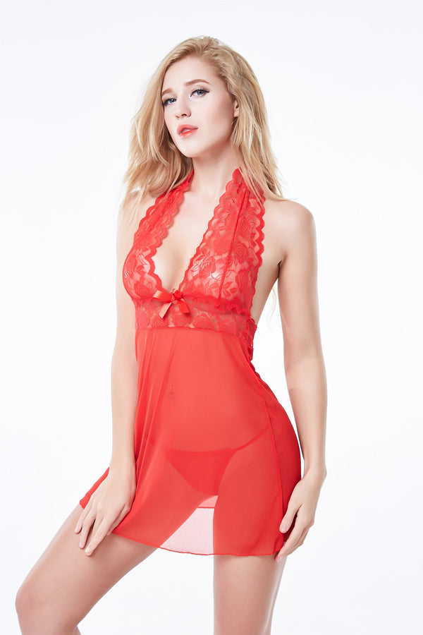 Open Chest Beautiful Ladies Modern Underwear Sexy Transparent Nude Babydoll Lingerie @ Daloah.com