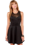 Cocktail Go with The Bow Black Dress @ Daloah.com