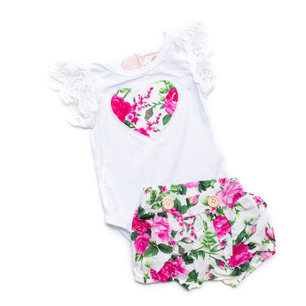 Bella Short Sleeve Top & Shorts Set (Sizes 0000-5 = 9 Sets)