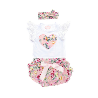 Savannah Short Sleeve Top & Ruffle Bloomer Set (Sizes 0000-1 = 5 Sets)