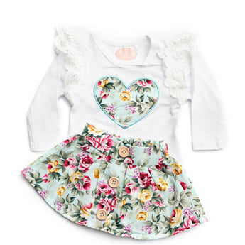 Ariana Long Sleeve Top & Skirt Set (Sizes 0000-3 = 7 sets)