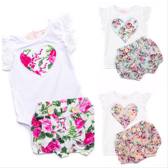 Mixed Short Sleeve Top & Shorts Set (Sizes 0000-5 = 9 Sets)