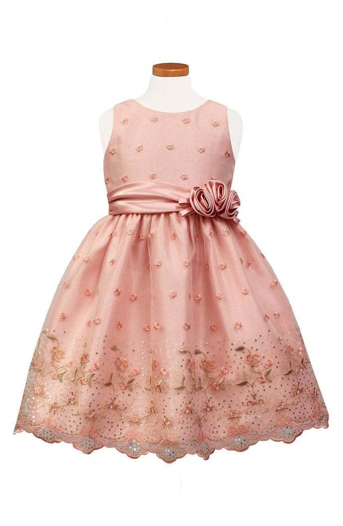 SORBET Flower Embroidered Special Occasion Dress