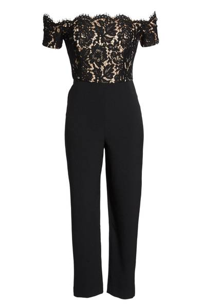 ELIZA J Off the Shoulder Jumpsuit