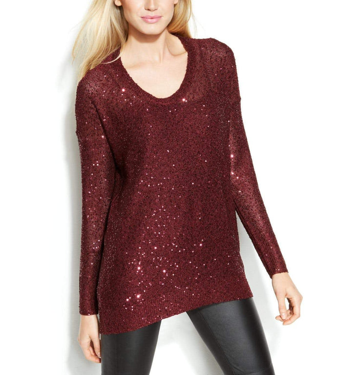 DKNY Hi-Low Sequin Sweater