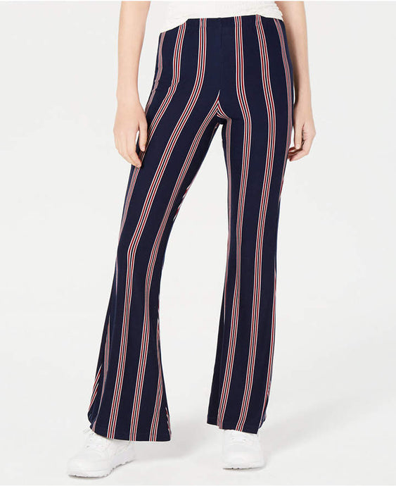 Planet Gold Juniors' Striped Knit Flared pants