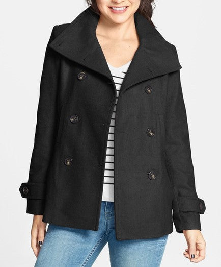 THREAD & SUPPLY Double Breasted Pea Coat