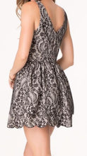 Bebe Sleeveless Printed Lace Mini Dress