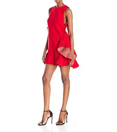 KENDALL + KYLIE NEW RED FLUTTER TIE ROMPER