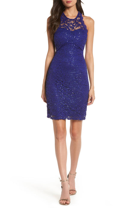 Sequin Hearts Juniors' Lace Bodycon Dress