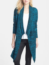 ONE A Space Dye Open Front Cardigan