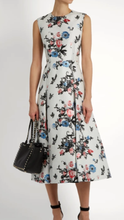 Valentino SLEEVELESS ENCHANTED JUNGLE BROCADE DRESS,