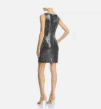 Rachel Zoe Womens Holly Black Metallic Party Dress