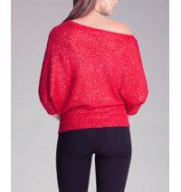 Bebe Off-Shoulder Sequin Sweater