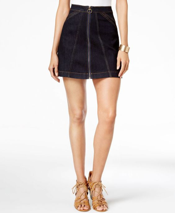 Buffalo David Bitton -  Zip-Front Denim Skirt
