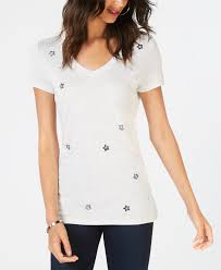 I.N.C. Embellished Star T-Shirt, Created for Macy's INC International Concepts Silver Heather