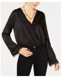 GYPSIES & MOONDUST BLACK SATIN TOP