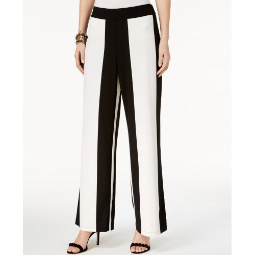 I.N.C. Striped Wide-Leg Pants