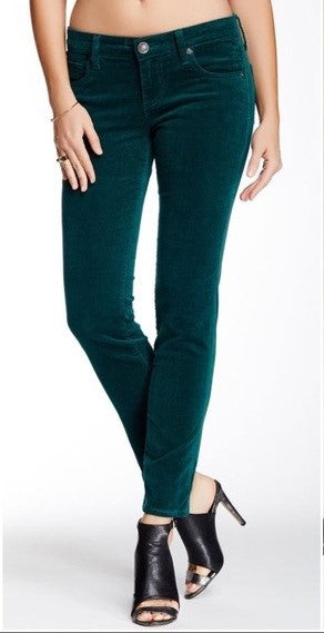 Kut From Emerald Green Diana Skinny Pants Cords