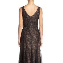 VERA WANG METALLIC FIT & FLARE GOWN