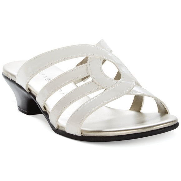 Karen Scott Emet Women US 9 White Slides Sandal