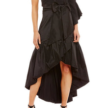 Eliza J taffeta Tiered High/low Skirt